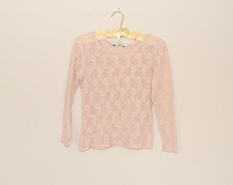 Pink Lace Top - Early 90s