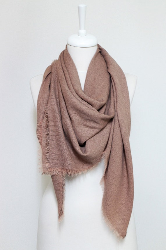 square brown fringe large scarf soft cotton blend scarves