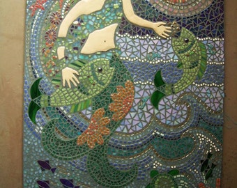 Genial Large Mosaic Wall Art, Custom Fine Art, Your Design, Clay Details, Stained