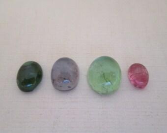 Mix of Tourmaline Cabochon Stones