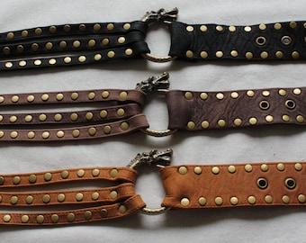 Divine Diva dragon leather belt