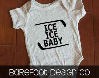 Ice Ice Baby Hockey bodysuit FREE and FAST Shipping in the US!