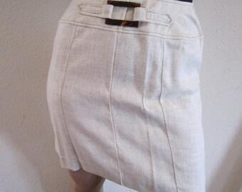 Vintage Beige pencil skirt Sears Roebuck 1970s