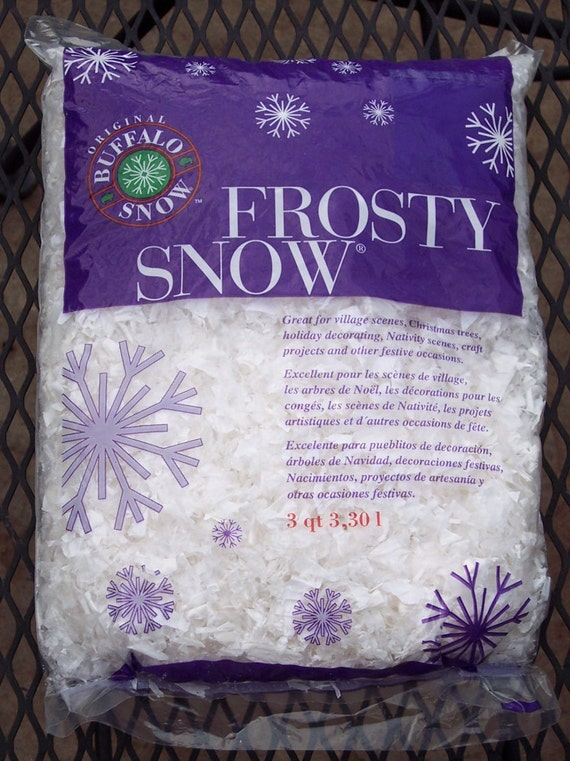 Artificial snow flakes frosty buffalo plain