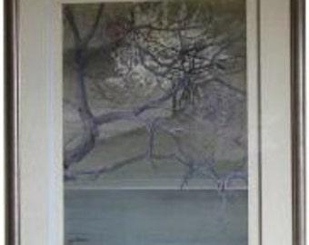 Original  Zen  Landscape Painting by Yu Achee.