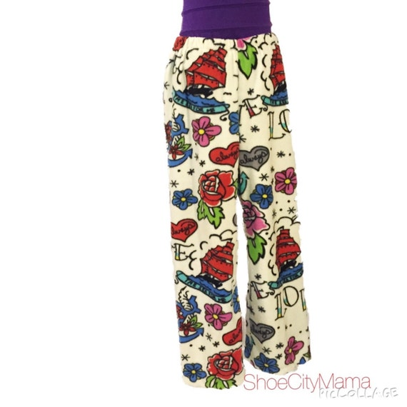Sailor Jerry Tattoo Family Christmas Pajamas Pants Fleece