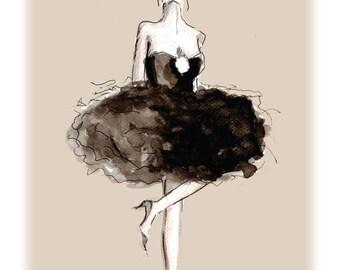 Chanel dress, Fashion Ilustration, print, poster