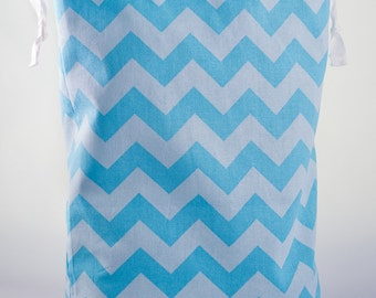 Tall Blue Chevron Project Bag