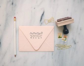 Custom Address Wood Stamp