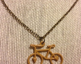 "16"" Light Pink Bicycle Necklace"
