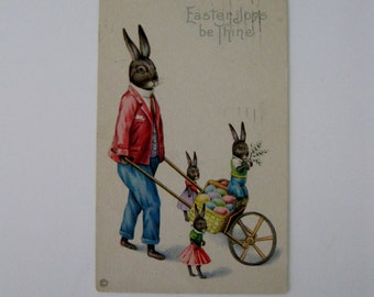 Easter Vintage Post Card - Easter Joys Be Thine - Stecher Litho Co Series #779C - Used - 1921