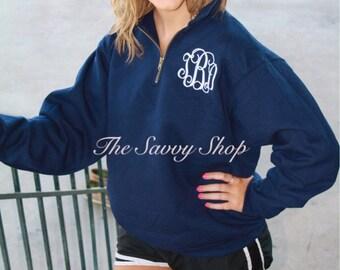 Half zip sweatshirt | Etsy