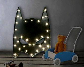 Kids Lamp, Batman Lamp, Batman Light, Marquee sign