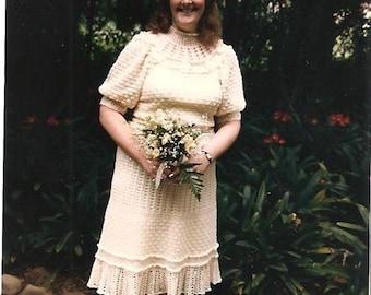 Vintage Crocheted Wedding Dress