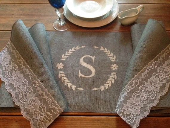 grey burlap table runner 12 14 or 15 wide