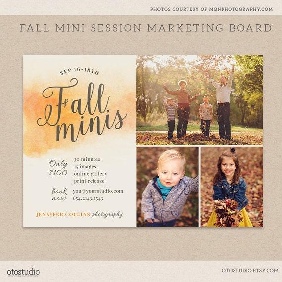 free photography marketing templates - fall mini session template photography marketing board