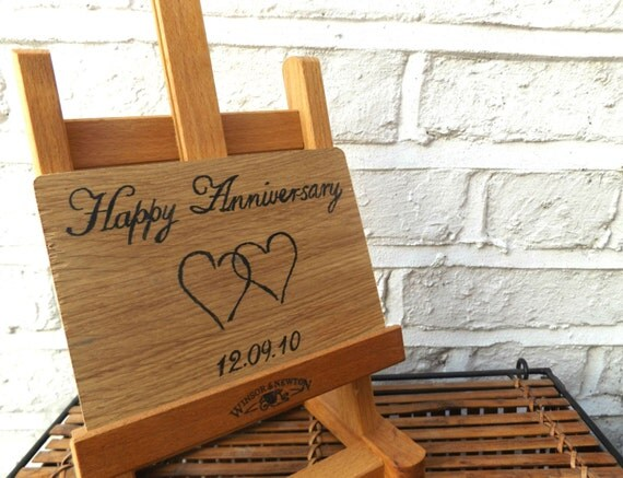 Personalised Anniversary Card Oak Wood Anniversary By
