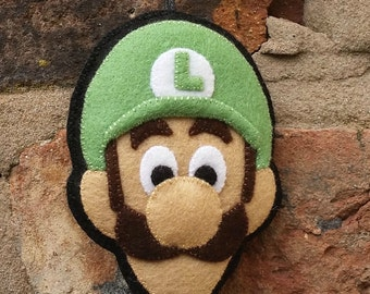 Super Mario Luigi felt ornament or keyring