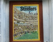 Vintage Framed Pittsburgh Steelers Puzzle