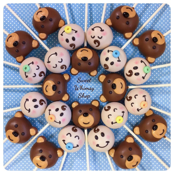 Bear And Pacifier Birthday Cake