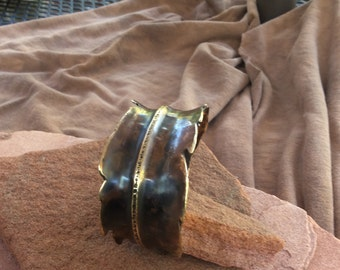 Bronze feather bracelet