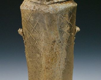 Wood fired Hikidashi Vase with Natural Ash Glaze #3