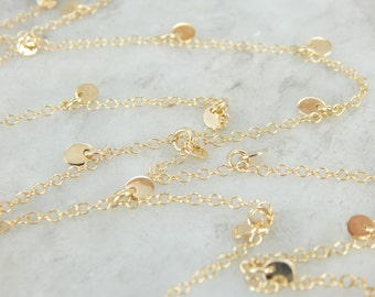Flashing Gold Disc Necklace, The Perfect Wardrobe Essential TXRZQ0-N