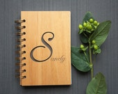 Custom Wood Bound Notebook - Alder Wood Cover Notebook - Spiral Journal
