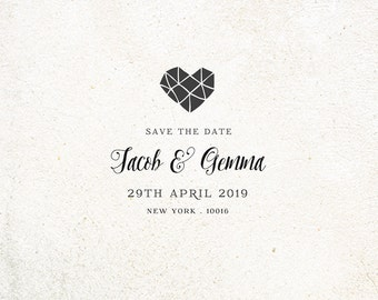 Self Inking Save the Date Custom Rubber Stamp