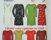 Simplicity/New Look Sewing Pattern 6697 Misses' Dresses in Size 8,10, 12, 14, 16, 18. Easy Pattern
