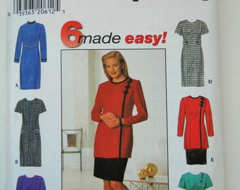 Simplicity Sewing Pattern 7763 Misses' Dress, Tunic and Skirt in Size 8,10, 12.