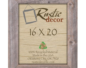 "16x20 Rustic Barn Wood 3.5"" Extra Wide Wall Frame"