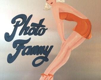 World War II Nose Art:  Photo Fanny, Pin Up Girl Style Bomber Art, Air Combat Nose Art