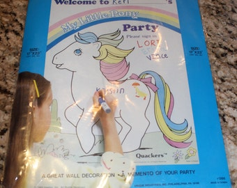 My Little Pony Quackers Party Poster