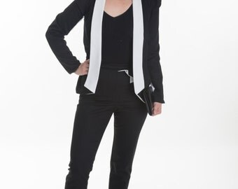 Black puff sleeve jacket, puff sleeve jacket, black blazer, womens jacket, womens blazer, office wear