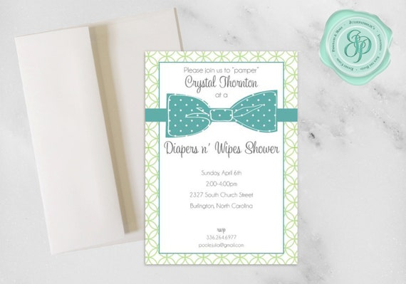 diapers n 39 wipes shower invitation baby boy shower 5x7 a7