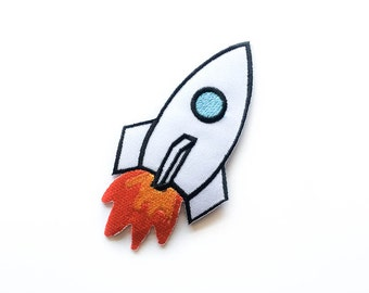 Space Shuttle Patch / Space Iron-on Patches / Space Craft / Tattoo Appliqué / Embroidery / DIY Denim Jacket