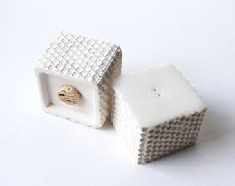 Honey-cone Salt Pepper Shakers