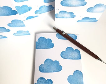 Cloud Greeting Card. Hand Stamped Greeting Card. All occasions card. Blank card