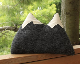 Mountain Pillow - cozy real wool throw twin peaks pillow - 16 inches