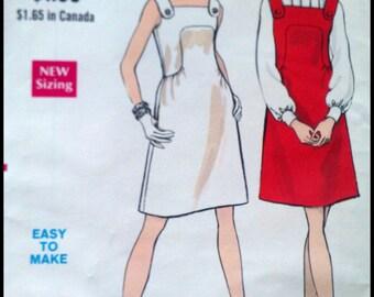 """Vogue 7480  Misses' One Piece Dress Or Jumper   Bust 32.5""""  UNCUT"""