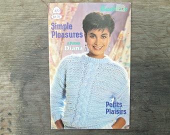 Sweater Knitting Patterns - 1980's Knitting Patterns - Patons Diana - Sweater Knitting Book - Vintage Knitting Booklet - No. 470