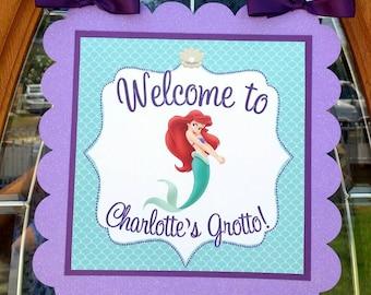 """ARIEL, The Little Mermaid inspired 11"""" Door Sign"""