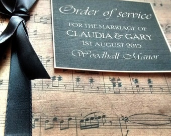"Order of service ""Claudia"", Order of the day, music lover"