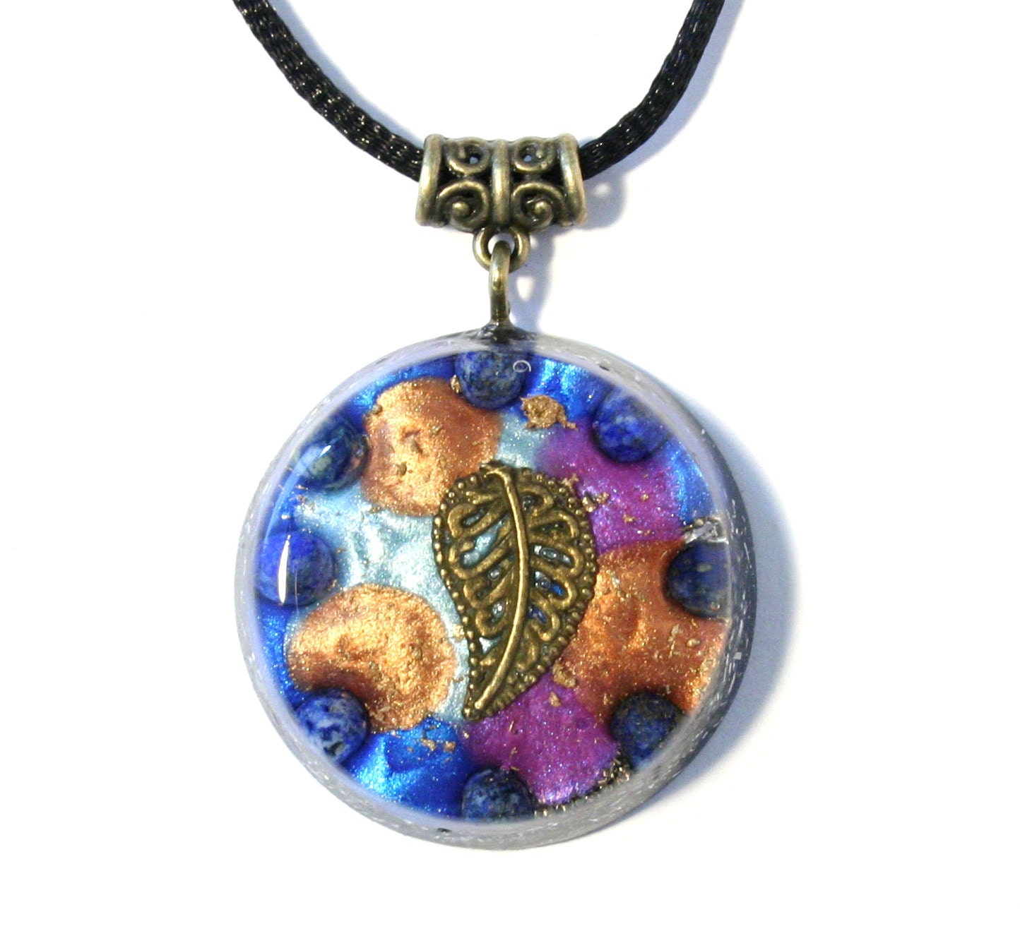 orgonite pendant lapis lazuli orgone prana chi healing