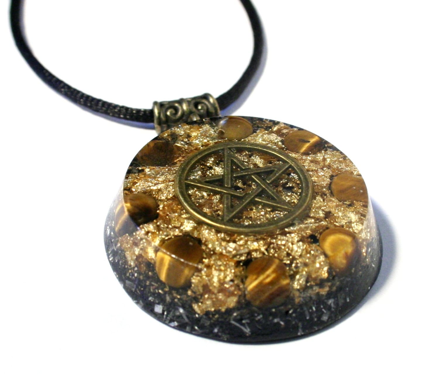 orgonite pendant with tiger s eye chakra by orgoniseyourself
