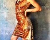 Veluna Tango Dress - Golden Cheetah
