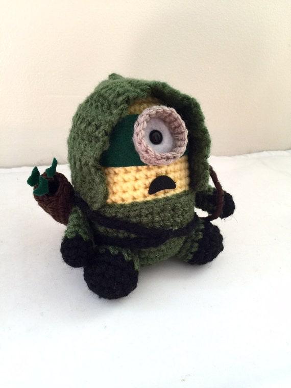 Green Arrow Minion PDF Pattern Crochet for Amigurumi Doll
