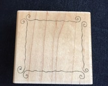 Curl Frame F1127 Rubber Stamp by Stampabilities Scrapbooking Wood Block Stamp