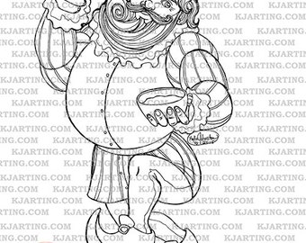 Colorbook page etsy for Old king cole coloring page
